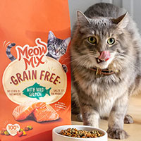 Apply for possible free cat food samples from Meow Mix