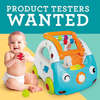 Become a product tester for Infantino and receive free samples