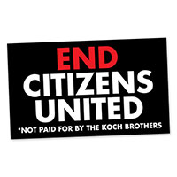 Claim Your FREE End Citizens United Sticker