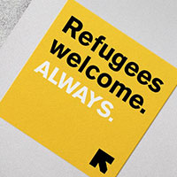 Claim a FREE Sticker by International Rescue Committee