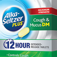 Claim your FREE sample of Alka-Seltzer Plus Maximum Strength Cough & Mucus DM