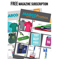 Claim your FREE MARCO Promotional Products Catalog