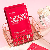 Claim your FREE Pomegranate Sheet Mask by Glam Up