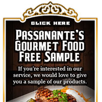 Get Your FREE Passionate's Gourmet Food Free Sample
