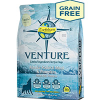 Get a FREE 4 lb Bag of Venture Alaskan Pollock Meal & Pumpkin Dog Food