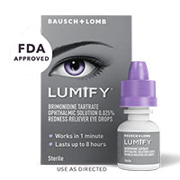 Get a free sample of LUMIFY Redness Reliever Eye Drops