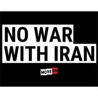 "Order Your Free ""No War With Iran"" Sticker"
