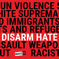 "Order your free ""Disarm Hate"" sticker!"