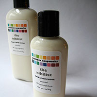 Request your sample of Organic Hand and Body Lotion by Paintbox Soapworks