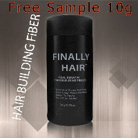 Receive Your FREE Hair Building Fibers by Finally Hair