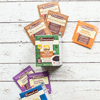 Receive a free roasted herbal tea sample in the mail