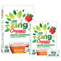 Request Your FREE Born Sweet Zing Organic Stevia Sweetener