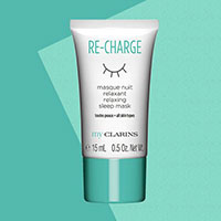 Request Your FREE My Clarins RE-CHARGE relaxing sleep mask