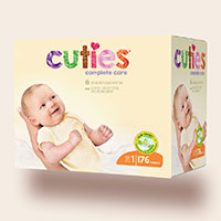 Request Your Free Cuties Diapers Sample Pack