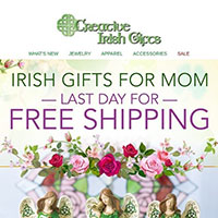 Request a FREE print copy of Creative Irish Gifts Catalog