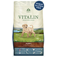 Request a free dog food sample from Vitalin pet food