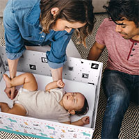 Request a possible FREE baby box