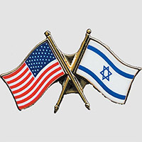 Request your FREE US-Israel Flag Pin