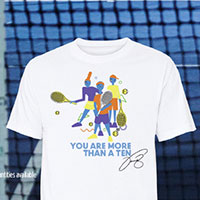 Request your exclusive FREE T-shirt designed by Venus Williams