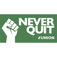 Request your free Never Quit Union Sticker