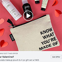 Retrieve your FREE Aveda makeup pouch and 4 pc gift set
