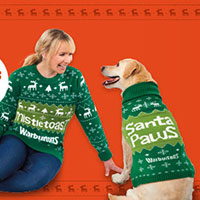 Win a Warburtons Christmas Jumper For You And Your Dog